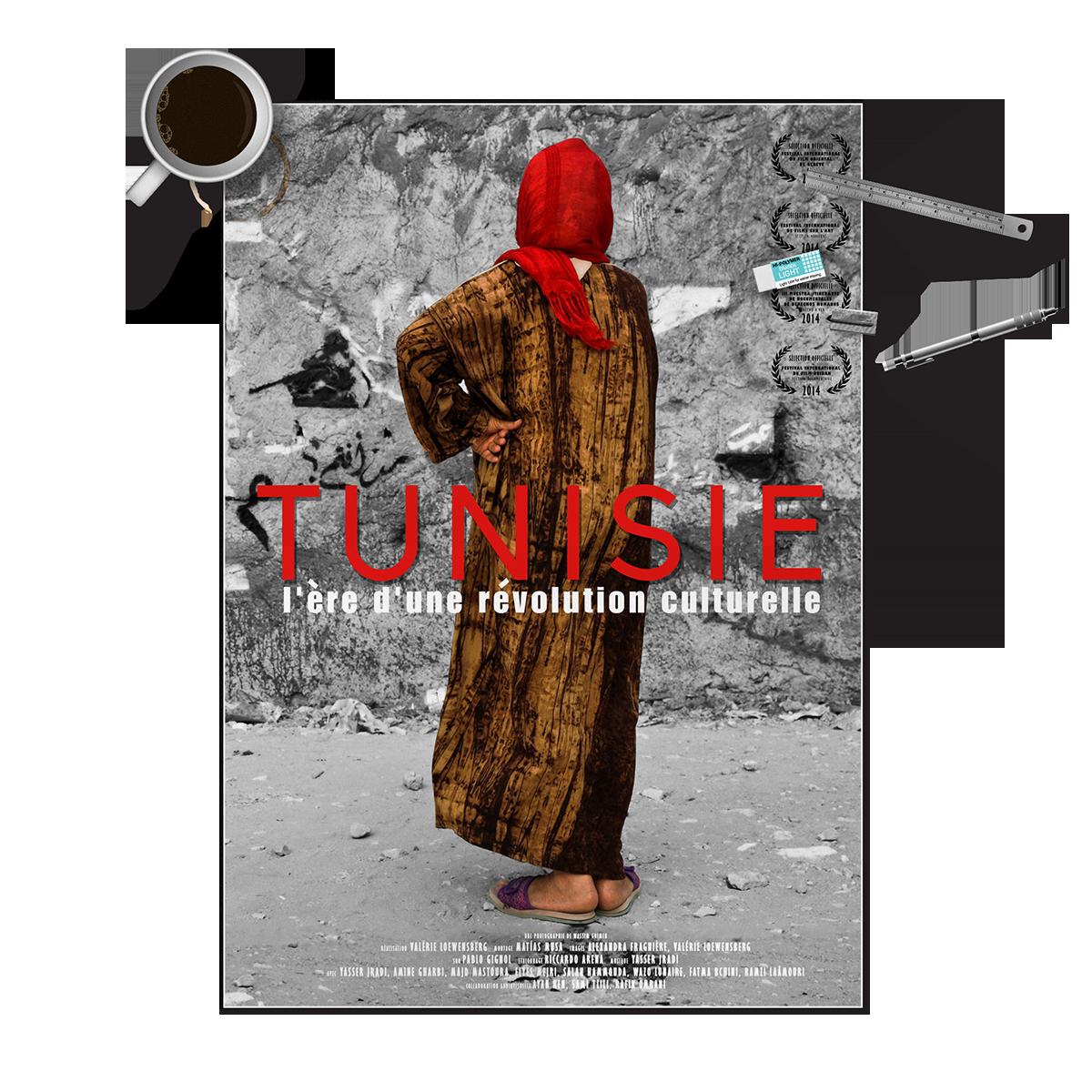 Affiche, Tunisie, l'ère d'une révolution culturelle, Valérie Loewensberg, sebastian espinosa multimedia