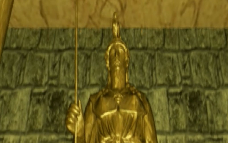 Modelisation temple animation 3D